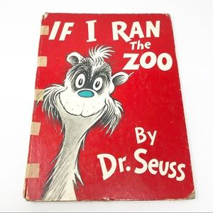 Vtg Dr Seuss If I Ran the Zoo Book Banned 1950 OOP